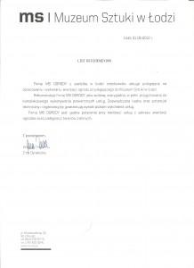 Muzeum Sztuki list referencyjny